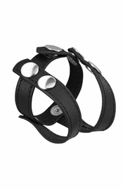 Deluxe Leather Cock and Balls Strap/Divider
