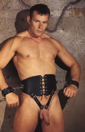 Deluxe Wide Belt with Cock Ring and Handcuffs