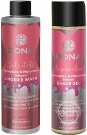 Dona Be Sexy Gift Set Lingerie Wash And Shave Gel Blusing Berry