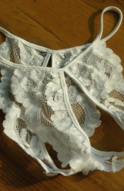Forbidden Love - Lace Crotchless Panty