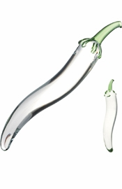 Glass Naturals Chili Pepper Dildo