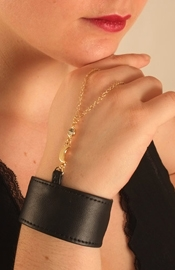 Gold Crescent Moon Bracelet and Finger Chain