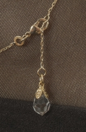 Gold Wrist or Ankle Chain with Crystal