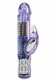 Waterproof Jack Rabbit 4.75 Inch Waterproof Purple