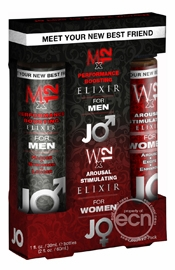 Jo Elixir Performance Boosting Liquid Combo Pack 6 Packs Per Counter Display
