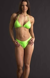 Lime Green Bikinis Swimwear Cover-Ups