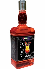 Liquor Lube Water Based Flavored Personal Lubricant Mai Tai 4 Ounce