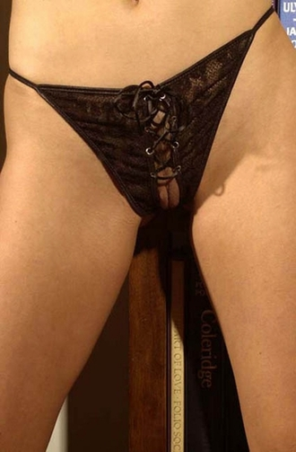 Love Enslaved - Crotchless Lace-Up Panty