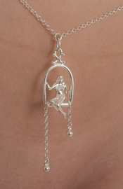 Needed Me - Silver Waist Chain with Woman Trapeze Pendant