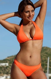 Neon Orange Halter Thong - Regular Price $72.00