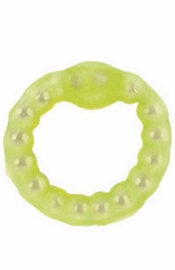 Pearl Beaded Prolong Ring  Glow In Dark - Sex Toy