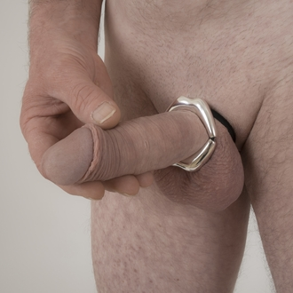 Point Guard - Men's Silver Kiss Penis Chain Bracelet