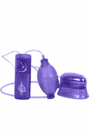 Pucker Up Vibrating Clitoral And Vaginal Pump Purple