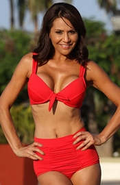 Rocky Point Beach - Red Swimsuit