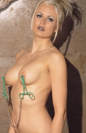 Scissor Style Nipple Clamps with Chain