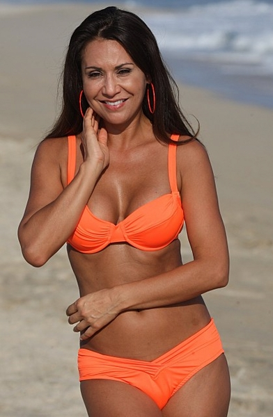 shell beach neon orange calypso bikini only. Black Bedroom Furniture Sets. Home Design Ideas