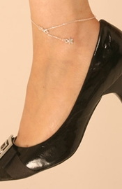 Shooting Star Silver Wrist/Ankle Chain