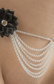 Silver Waist Chain with Bow and Draping Chains