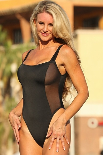 Solana Beach - Black 1 Pc. Swimsuit
