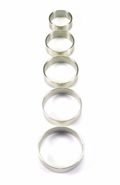 Stainless Steel Solid Cock Ring, 15 mm. wide ( 5 sizes )