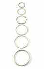 Stainless Steel Solid Cock Ring, 5 mm. wide (6 sizes)