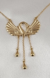 Swan Waist Chain with Dangling Pendants in Gold