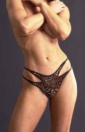 The Beast Within - Strappy Leopard Panty
