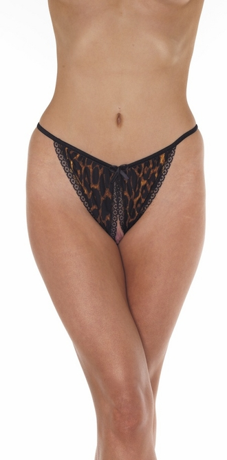 The Leopardess - Crotchless Backless Bikini Panty