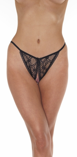 The Mighty Storm - Fine Belgian Lace Crotchless Backless Panty
