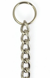 Twisted Chain with Rings 1.5 ft