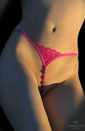 Undeniable - Open Crotch Pearl G String Panty