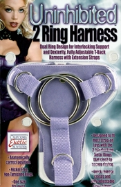 Uninhibited 2 Ring Harness - Sex Toy