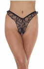 Unleashed - Sheer Lace Crotchless Panty