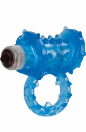 Waterproof Passion Ring - Blue - Sex Toy