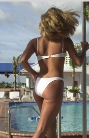 White Bikinis Swimwear Cover-Ups