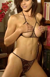 Wild at Heart - Open Cup Bra & Crotchless G-String