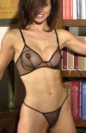 Wild Woman - Fishnet Bra & G-String Panty