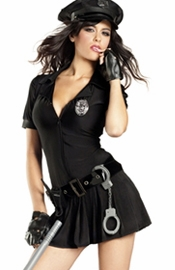 Women's Cop Costume with Mini Skirt