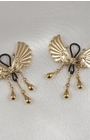 Women's Non-Piercing Gold Wings of Desire Nipple Jewelry