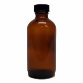 Amber 4oz(120ml) Glass Bottle with Lid