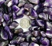 Amethyst Banded Tumbled Stone