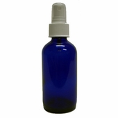 Blue Cobalt Glass Bottle - 4 oz with Spray Pump