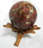 Brecciated Jasper Sphere 3.8 inches