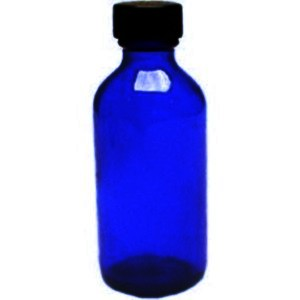 Cobalt Blue 4oz (120ml) Glass Bottle with Lid