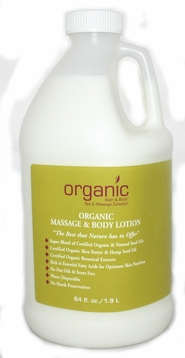Organics Massage Lotion 1/2 gal