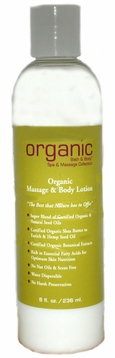 Organics Massage Lotion 8oz