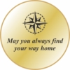 Brass Pocket Compass Find Your Way Home