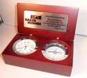 Silver Trim Desk Compass Clock Custom Engraving Volume Purchase