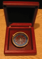 Engraved Compact Desk Compass Ready Engraved:DrSeussQuote