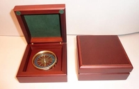 Engraved Desk Compass Emerson Do Not Go Where